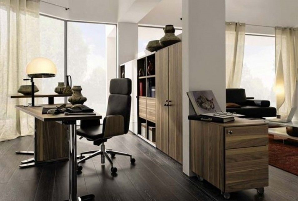 Home office in living room magnificent living room office for Small office area