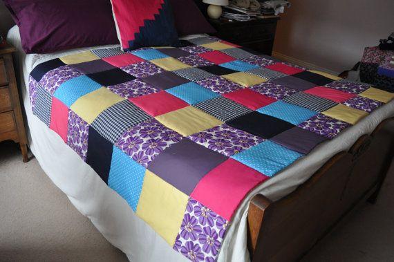 SOLD ITEM Handmade Patchwork Large Quilt by PrettyPatchworkPiece
