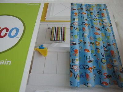 New Circo Alphabet Collection Fabric Shower Curtain Blue NEW On EBay!