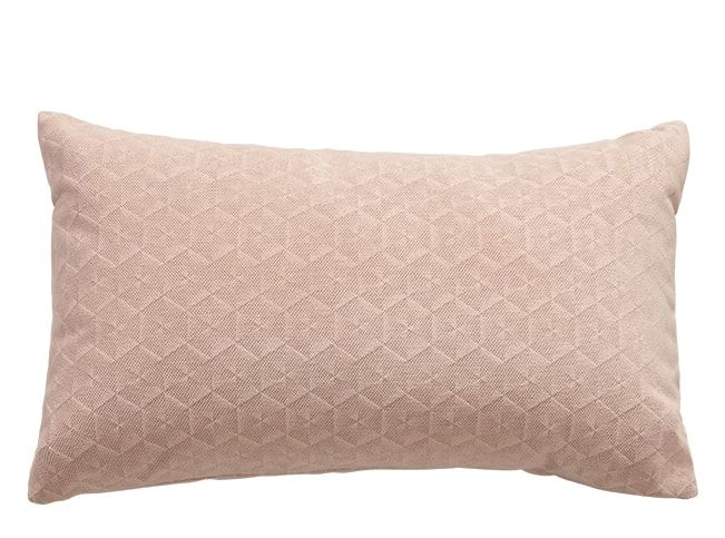 Vika Geometric Velvet Cushion 30 X 50cm Soft Pink In 2019 Living