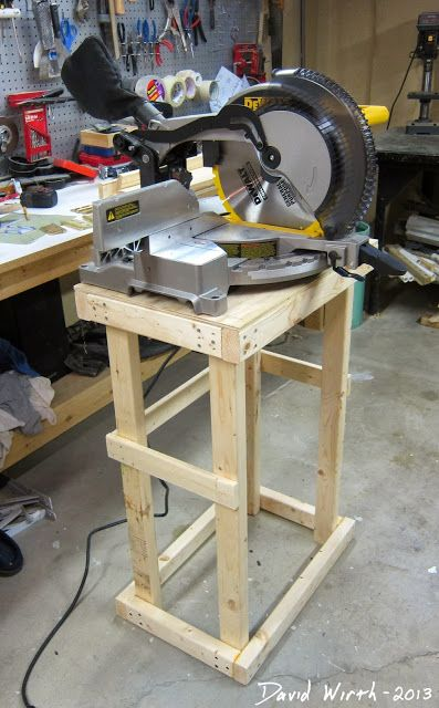 basic miter saw stand frame, framework, plywood   saw stands ...