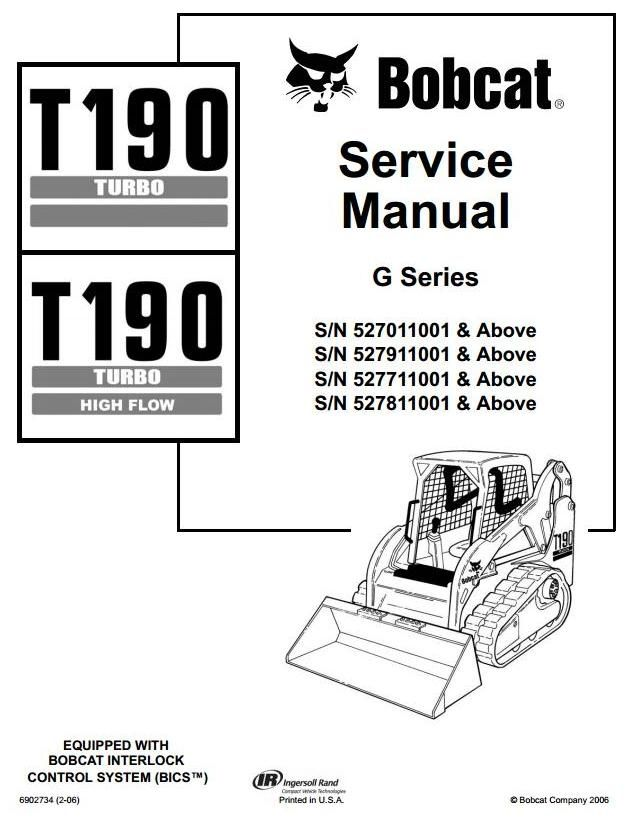 original illustrated factory workshop service manual for bobcat crawler skid steer loader type