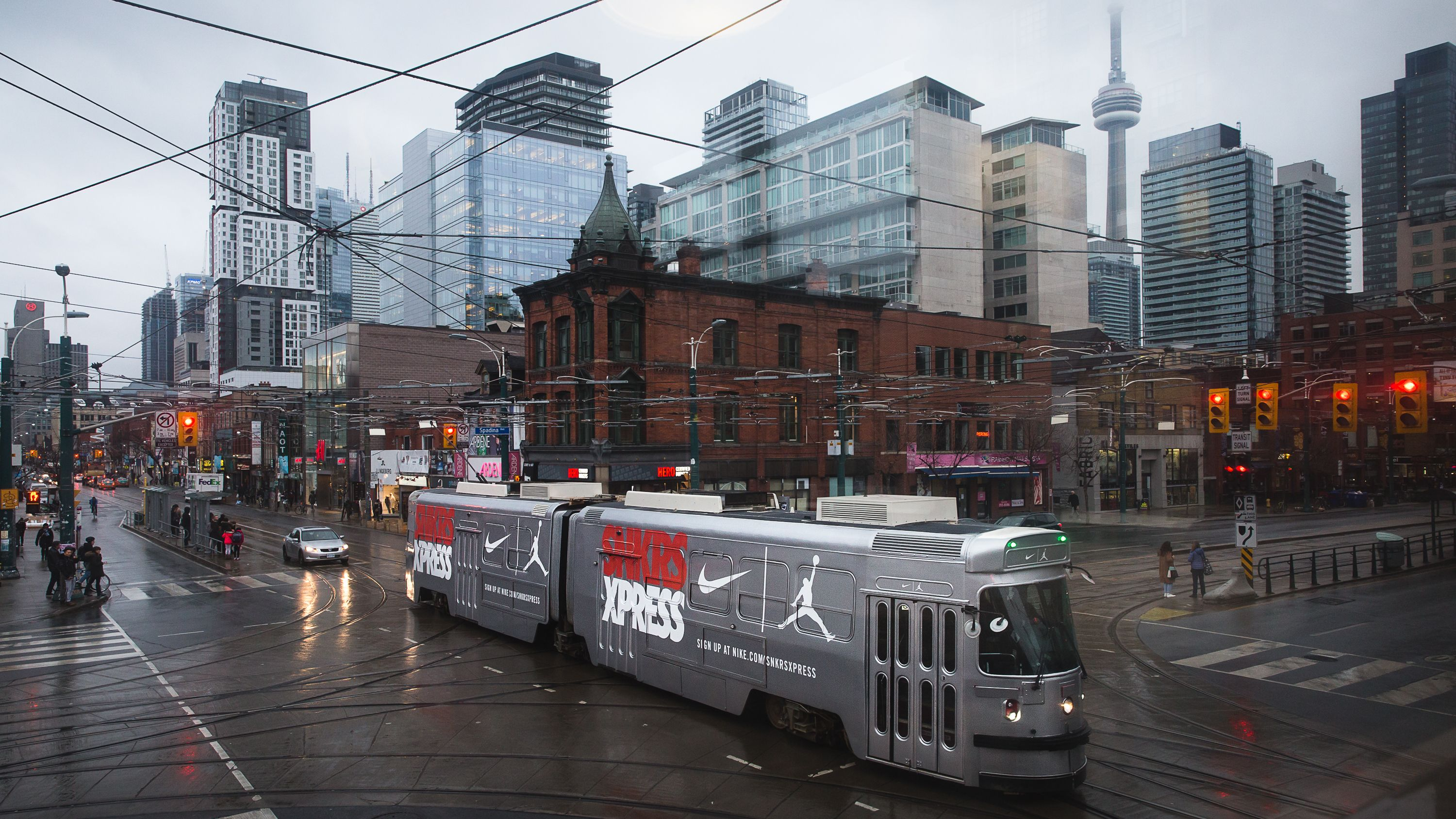 Nike Transformed A Ttc Streetcar Into A Moving Sneaker Store