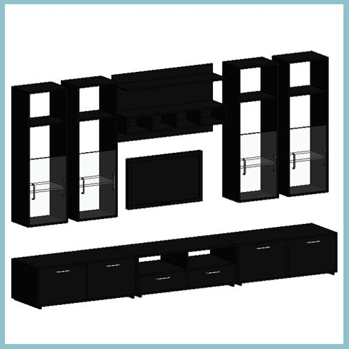 Complete Lyra Night Tv Unit With Samsung Wall Mounted Tv