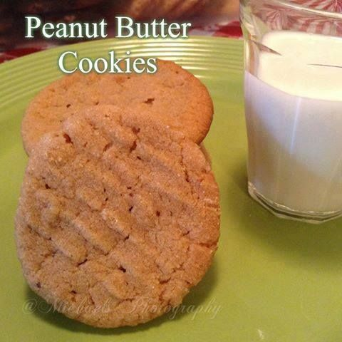 EASY PEANUT BUTTER COOKIES  www.BurnFatFeelGreat.com #sweettreats #sweets #desserts #treat #treats