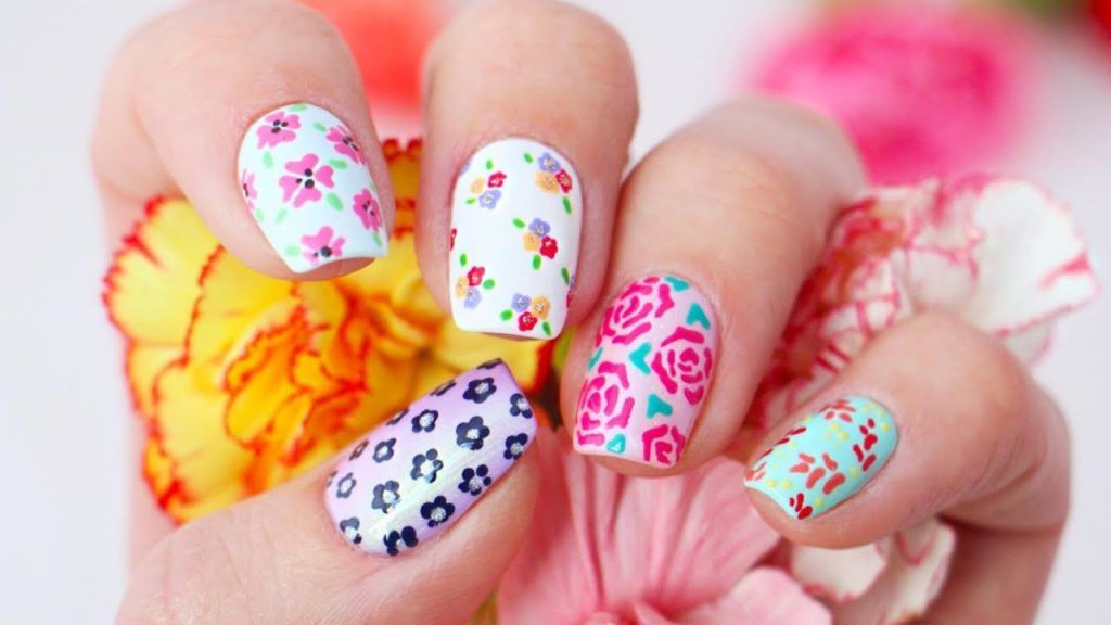 5 Floral Nail Art Designs Using Only Toothpicks Beauty Nails