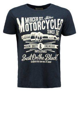 Burton Menswear London MERCER MOTOR - Print T-shirt - navy for £14.00  (15 01 15) with free delivery at Zalando 13bbc685820