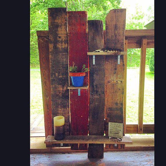 Reclaimed Wood Shelves by EverlandAWV on Etsy