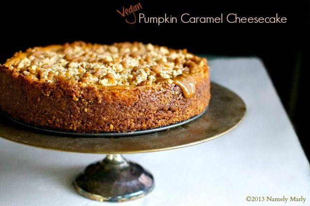 Vegan Pumpkin Caramel Cheesecake | Namely Marly
