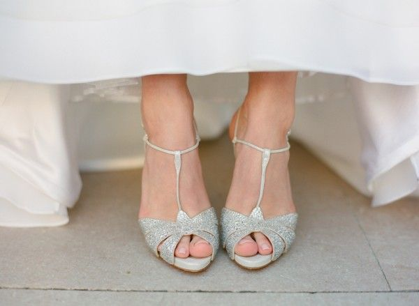 Real Weddings Shauna Mike Sparkly Wedding ShoesSparkly