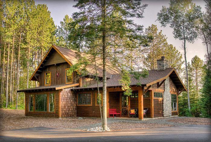 Интерьер деревянного дома в стиле американского ранчо ...