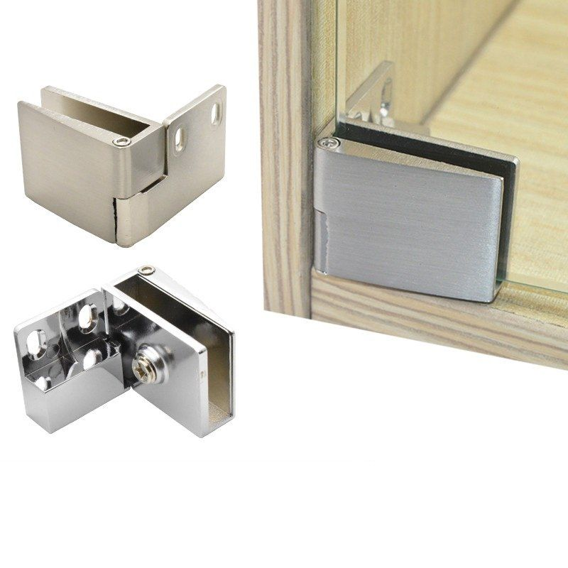 1pair 1bottom1top Lot Frameless Glass Door Hinge Pivot Wine Cabinet Cupboard Display Showcase Glass Hinges Glass Cabinet Doors Glass Door Hinges