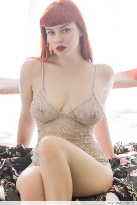 Nude redhead glamour models