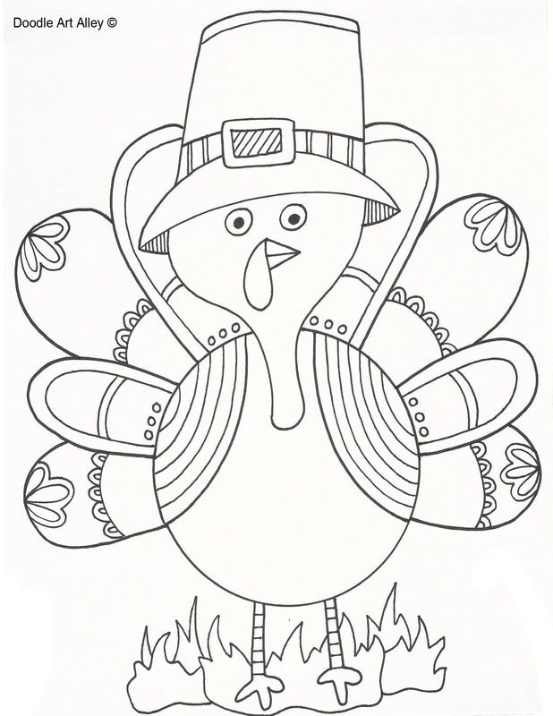 Thanksgiving Coloring Pages Free Download Pictures