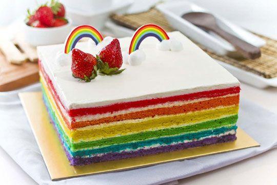 Kue Rainbow Pelangi Kue Pelangi Kue Tart Kue Cantik
