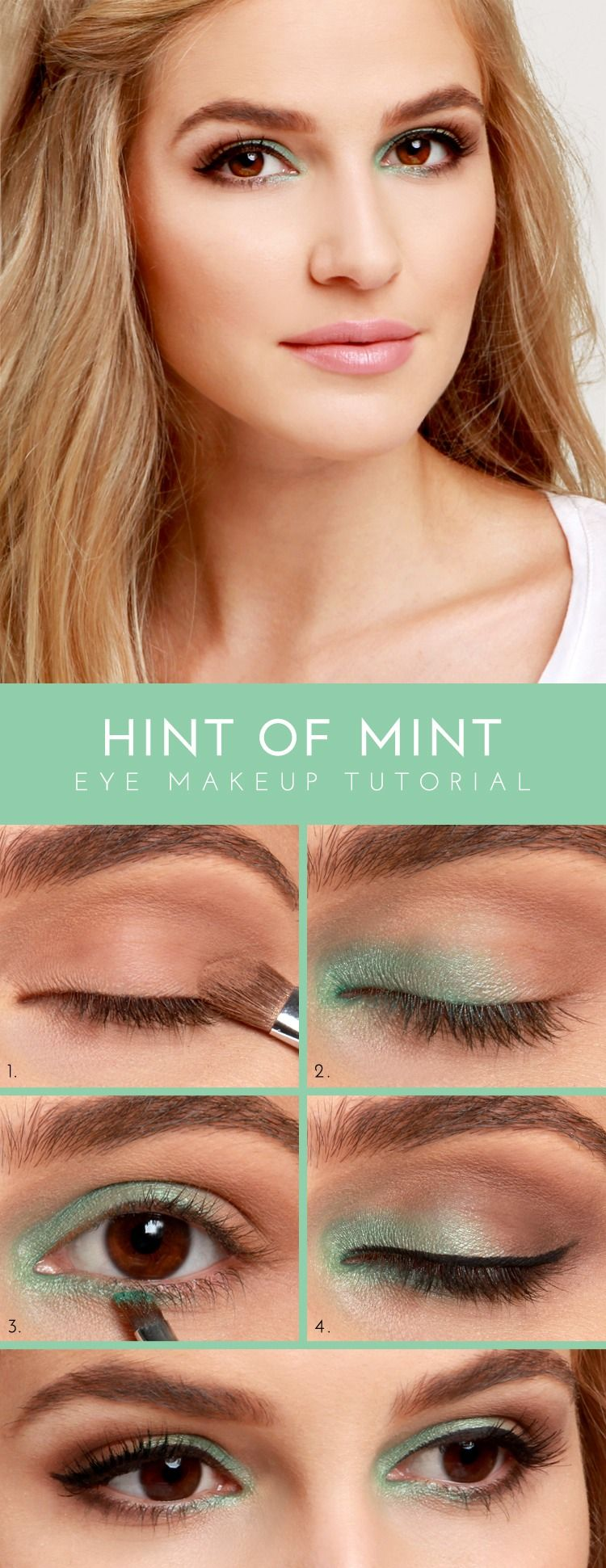 Step By Step Pop Of Color Eye Makeup!