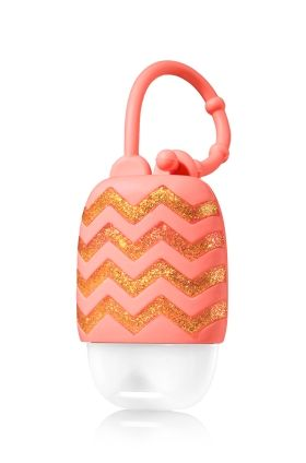Coral With Chevrons Pocketbac Holder Bath Body Works