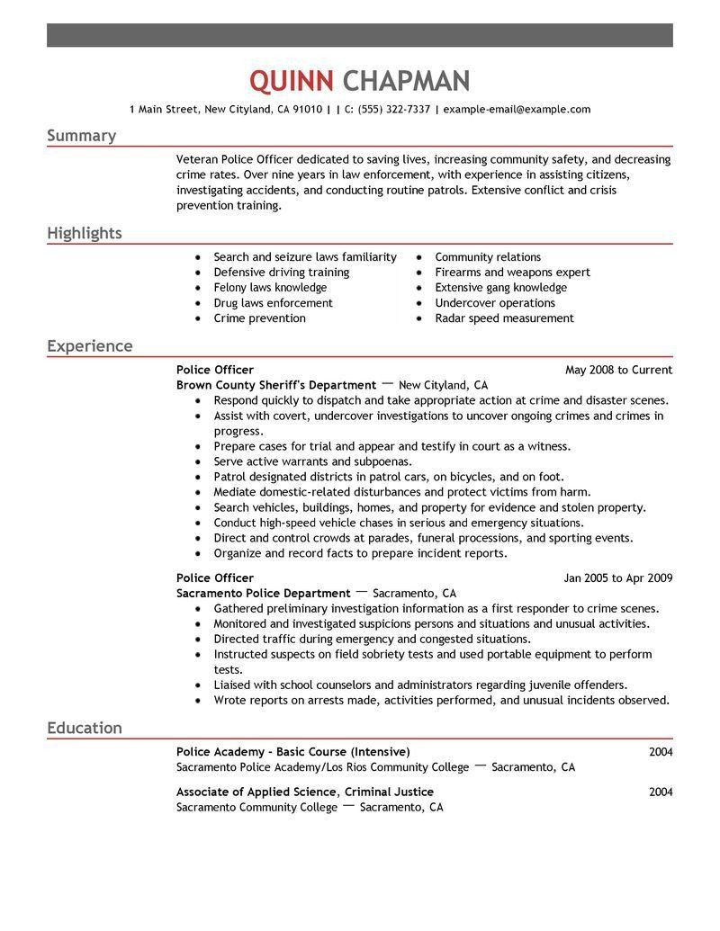 Police Officer Resume Examples Luxury Law Enforcer Resume Example A Police Ficer Sample For With Resume Examples Police Officer Resume Job Resume Examples