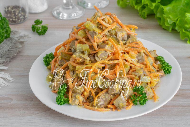 Салат из печени и корейской моркови   Рецепт в 2020 г ...