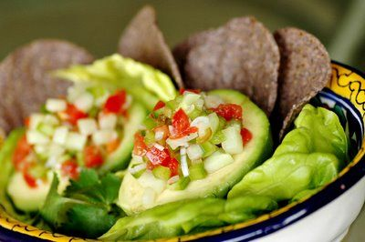 Savoring Time in the Kitchen: Gazpacho filled Avocados
