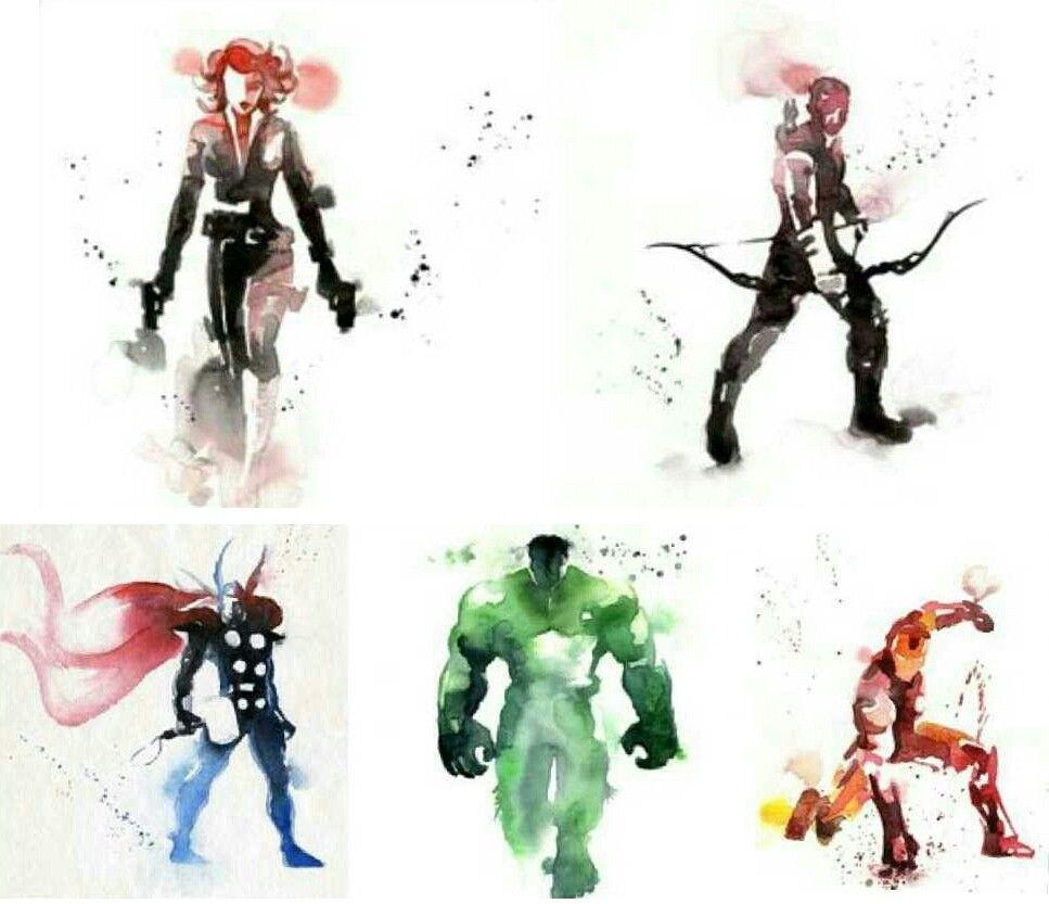 Watercolor Avengers