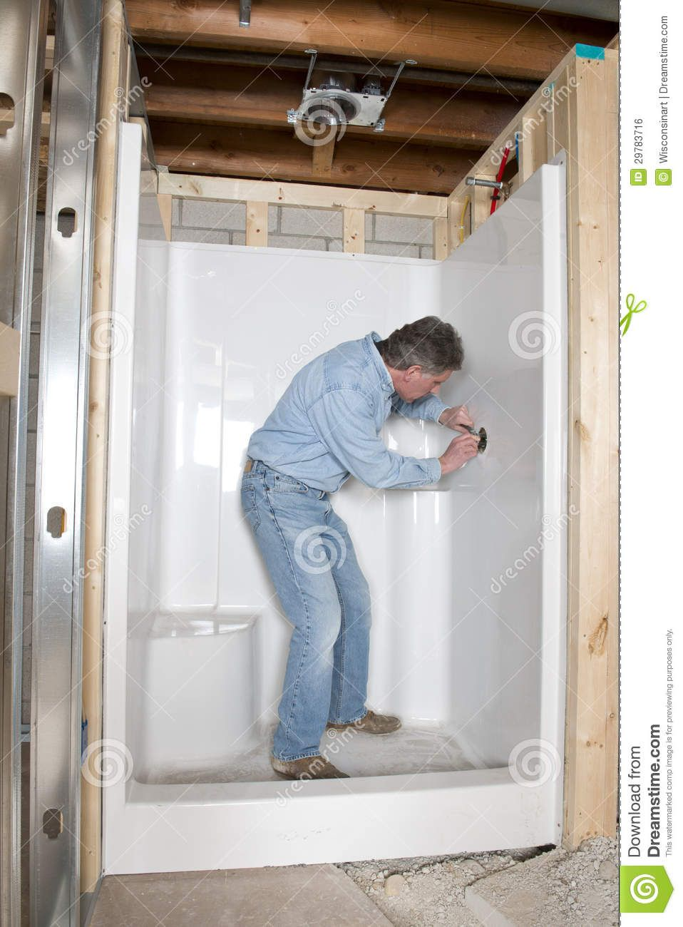 Installing A Shower Stall Google Search Stopmakingexcuses