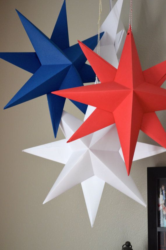 Diy Hanging Paper Star Kit Make Your Own Large Folded Etsy In 2020 Origami Decoration Paper Stars Origami Stars