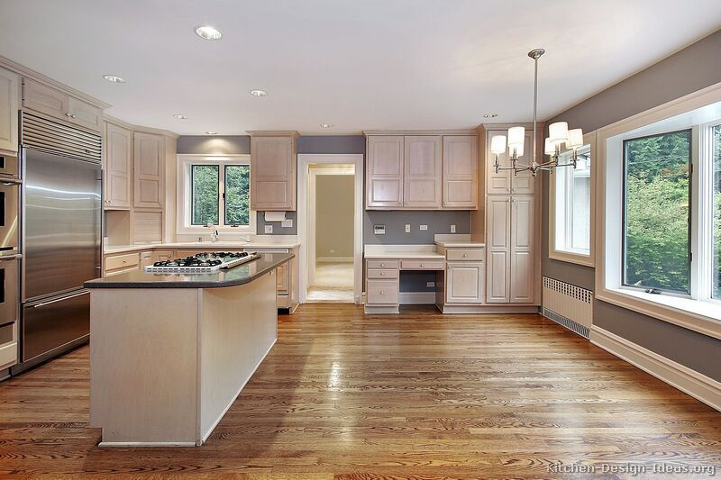 Traditional Whitewash Kitchen Cabinets KitchenDesignIdeas - Whitewash kitchen cabinets
