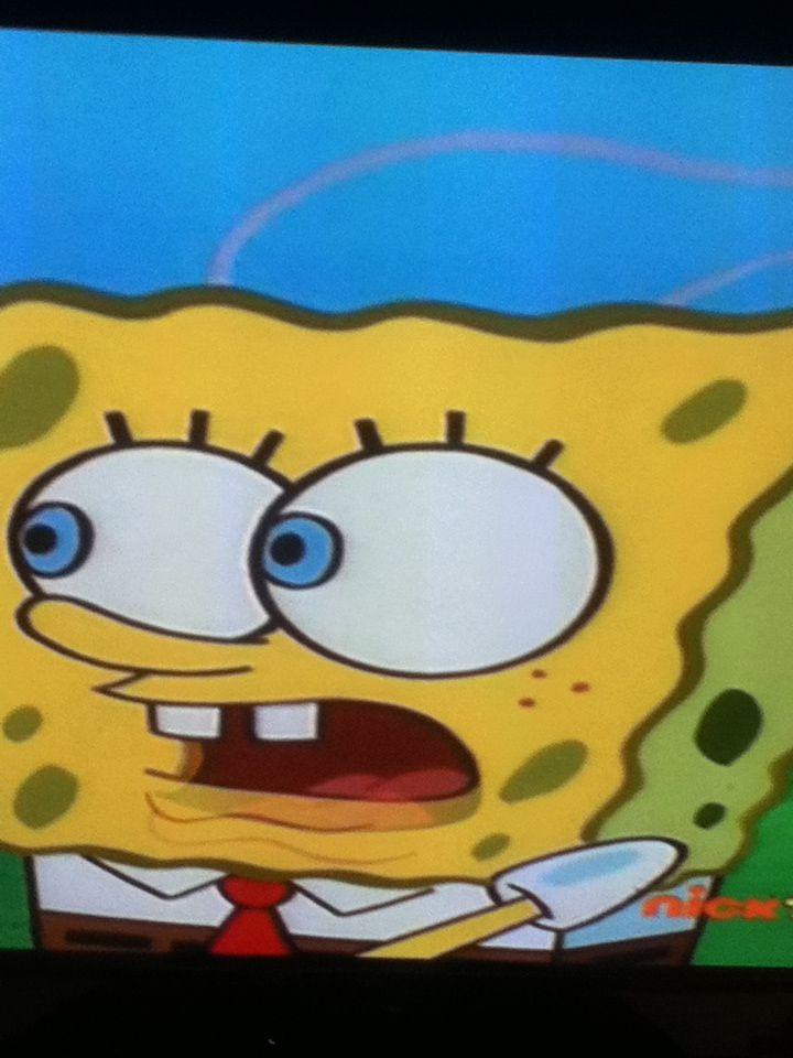Late night watching spongebob