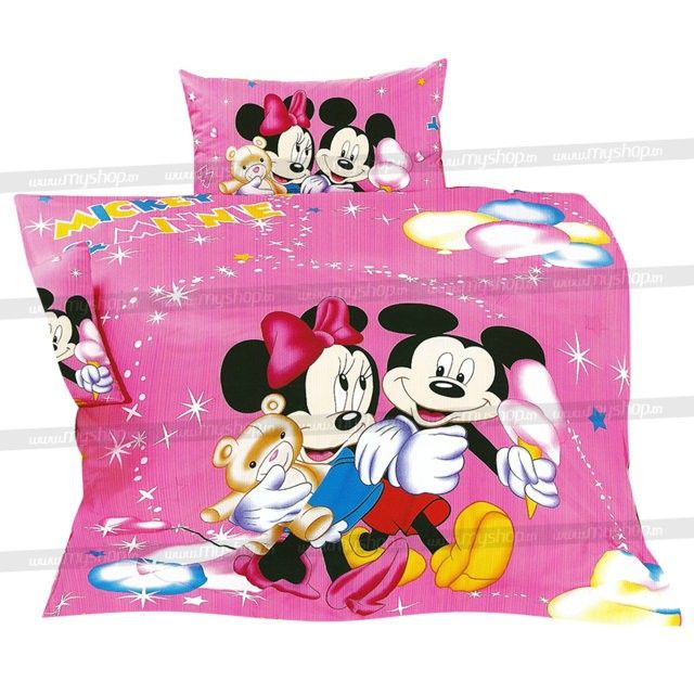 drap housse 160 x 220 Parure de lit thème Mickey Mouse convient pour un lit 160 x 220 cm  drap housse 160 x 220