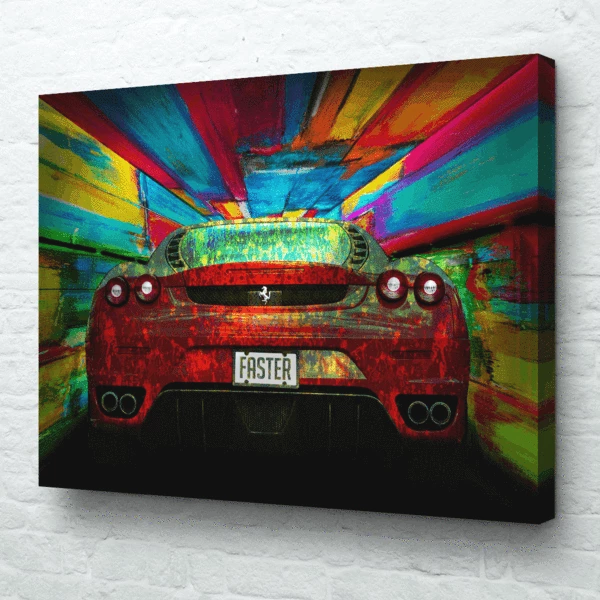 Faster Wall Ferrari Faster Car Wall Art Modern Pop Art Epik Canvas Car Wall Art Modern Pop Art Art