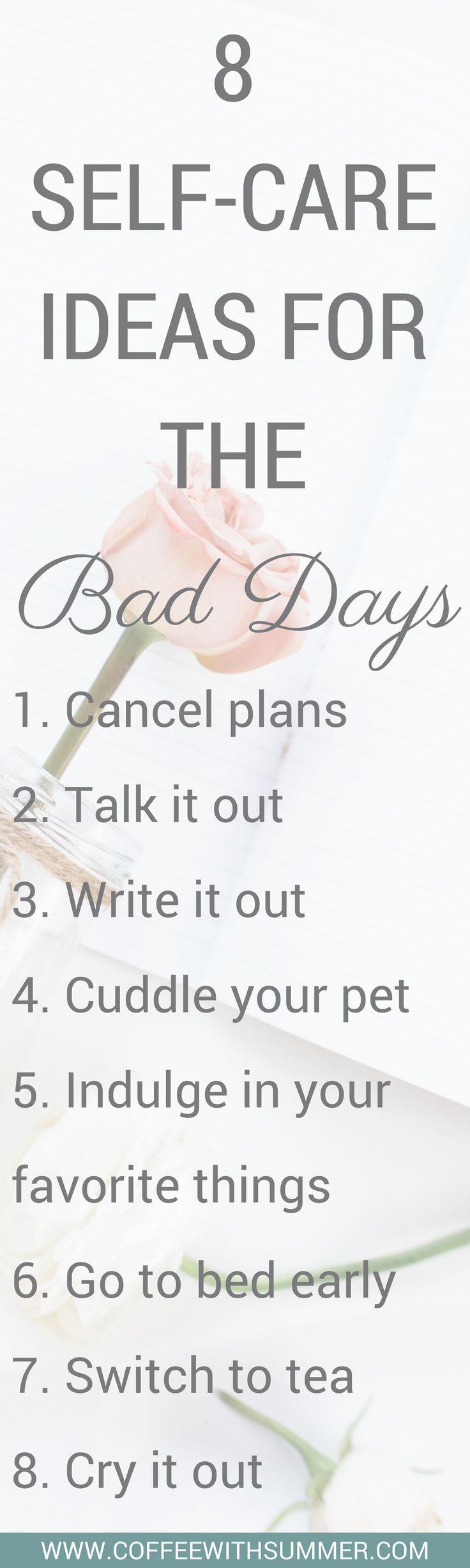Self-Care-Ideen für die schlechten Tage – Kaffee mit Sommer   – Quotes