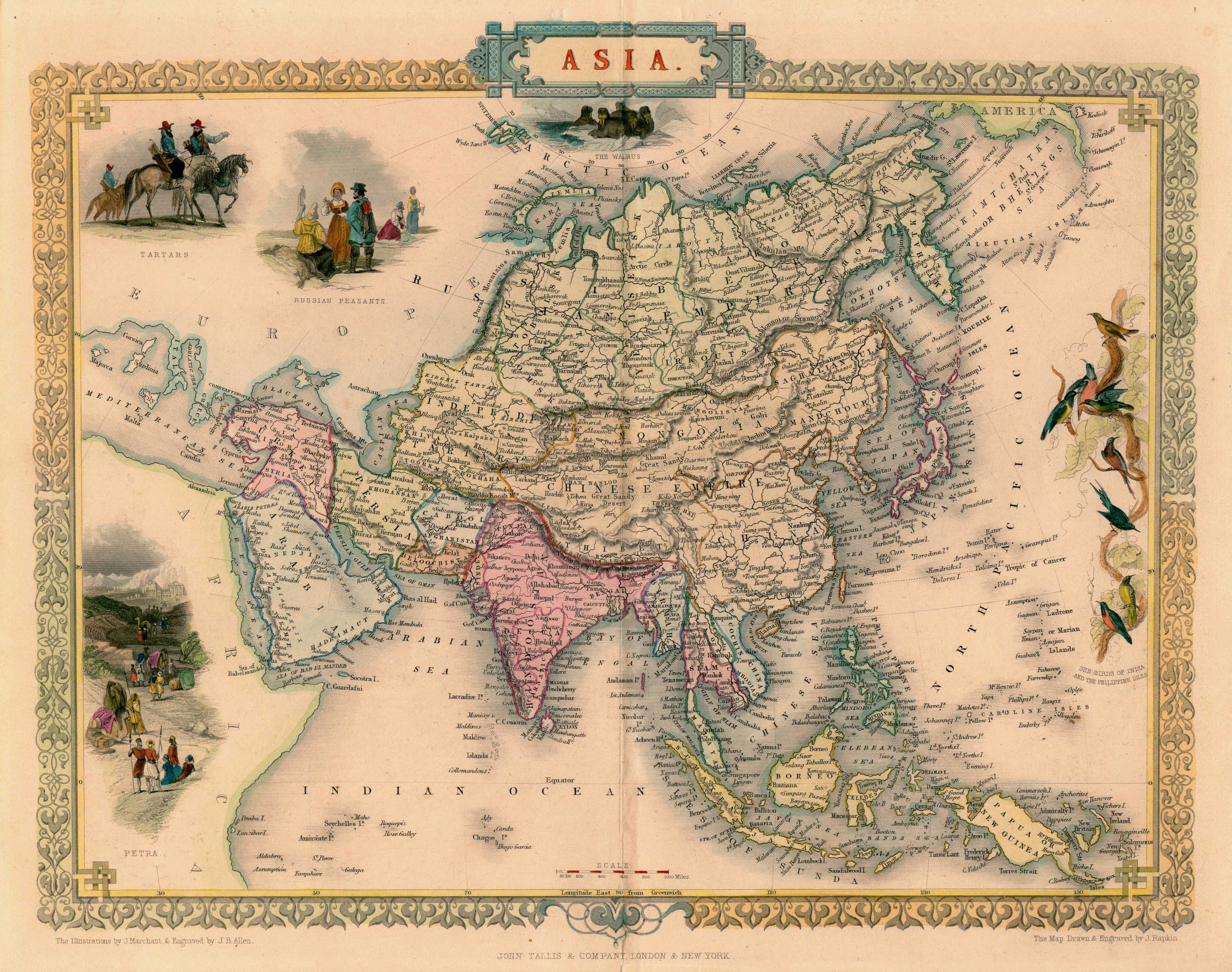 Antique map of asia by tallis 1851 map asia world pinterest antique map of asia by tallis 1851 map asia publicscrutiny Gallery