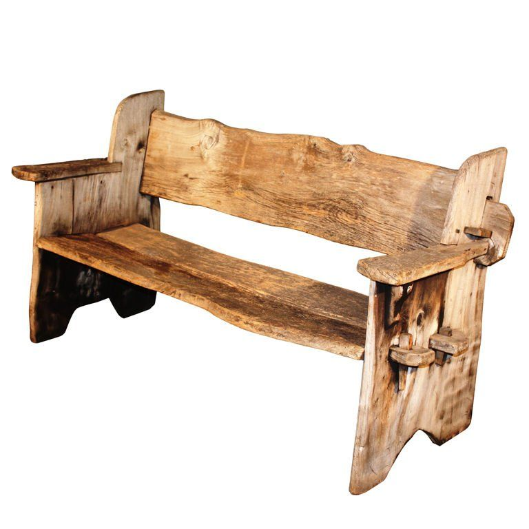 Rustic Scottish Garden Bench | 1stdibs.com | Rustic wood ...
