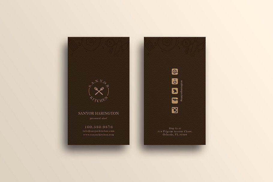 Elegant Restaurant Business Card Restaurant Business Cards Business Card Template Design Business Card Photoshop