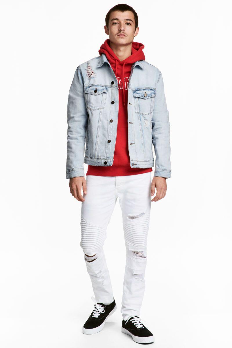 Biker Jeans White Men H M Us Men Fashion In 2018 Pinterest