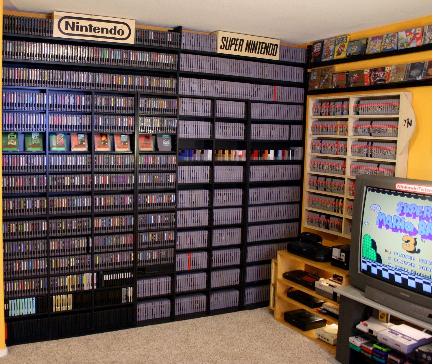Game Collection For Sale Video Game Rooms Game Room Retro