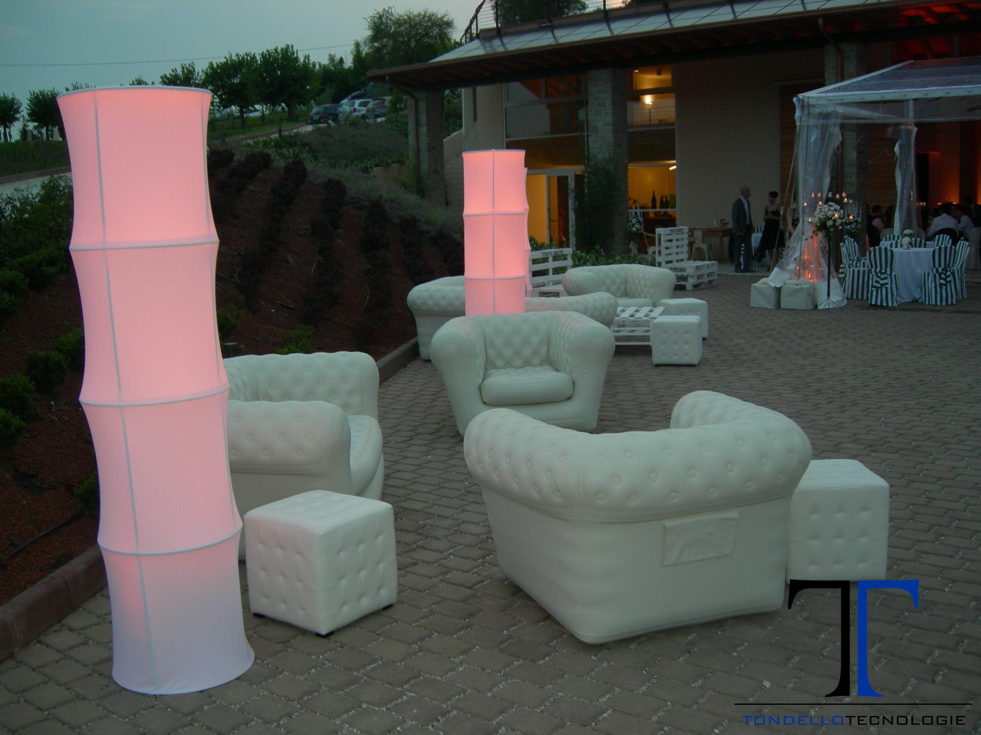 Matrimonio luci architetturali arredi design impianto audio arredo