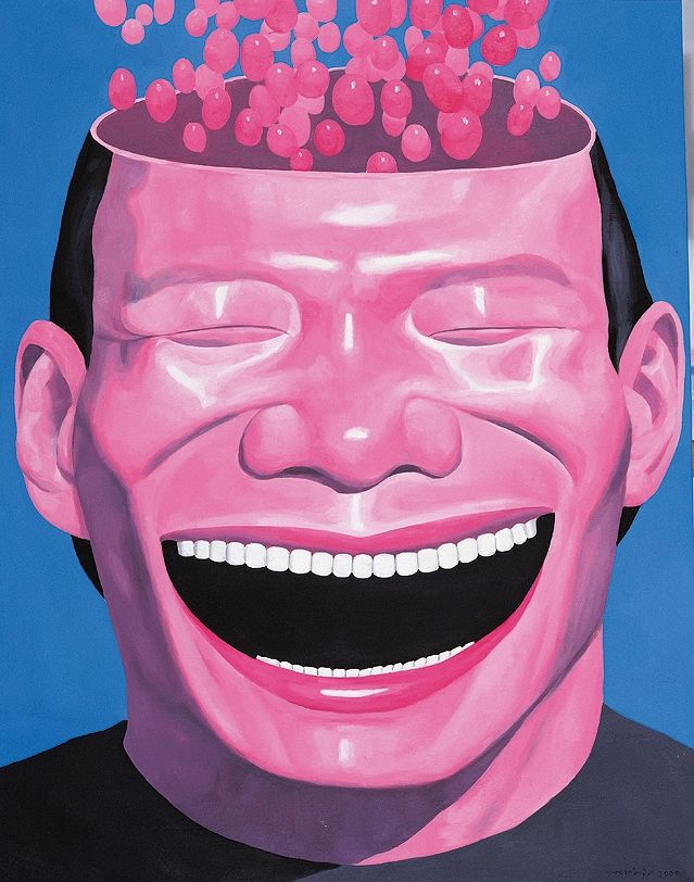 Yue Minjun, Memory-2, 2000 Huile sur toile Collection de l'artiste, Pékin © Yue Minjun - 2012