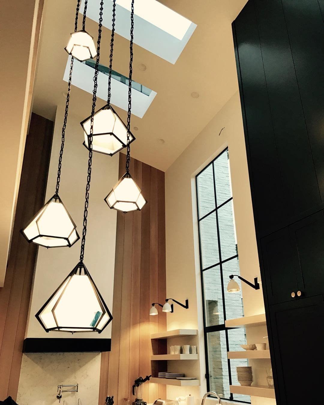 Amazing Oversize High Ceiling Lighting Feature By Ericolsendesign Kitchen Pendant Lighting Kitchen Pendants Interior Architecture Design