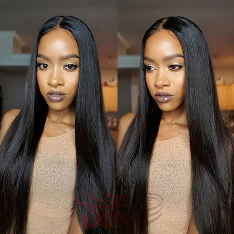 8a Ay Brazilian Natural Straight Full Lace Frontal With Baby Hair Pre Plucked 360 Closure Virgin