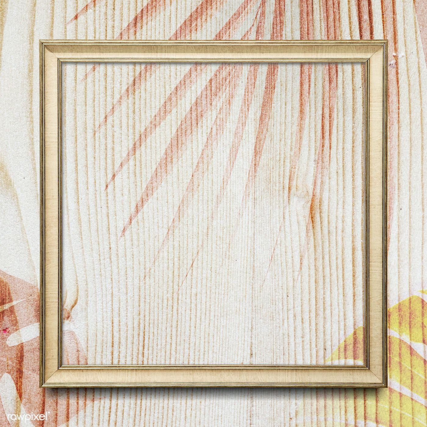 Download Premium Illustration Of Square Frame With Leaves Decoration On ในป 2020