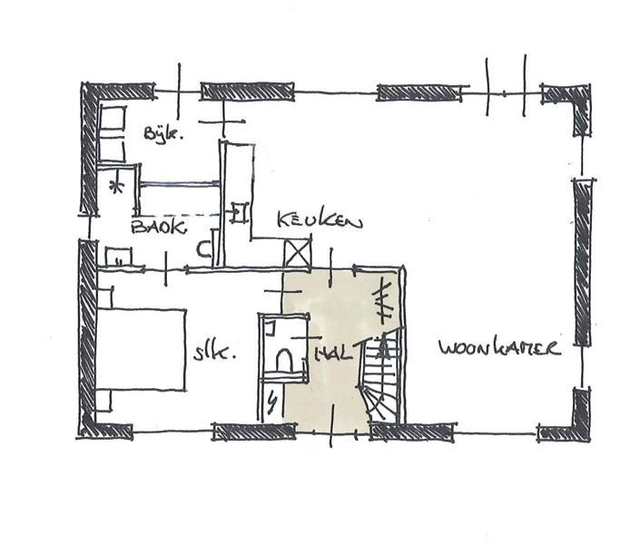 huis ontwerpen slaapkamer en badkamer op begane grond - Google ...