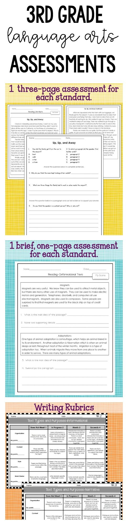 Third Grade Language Arts Assessments Common Core  Not Common