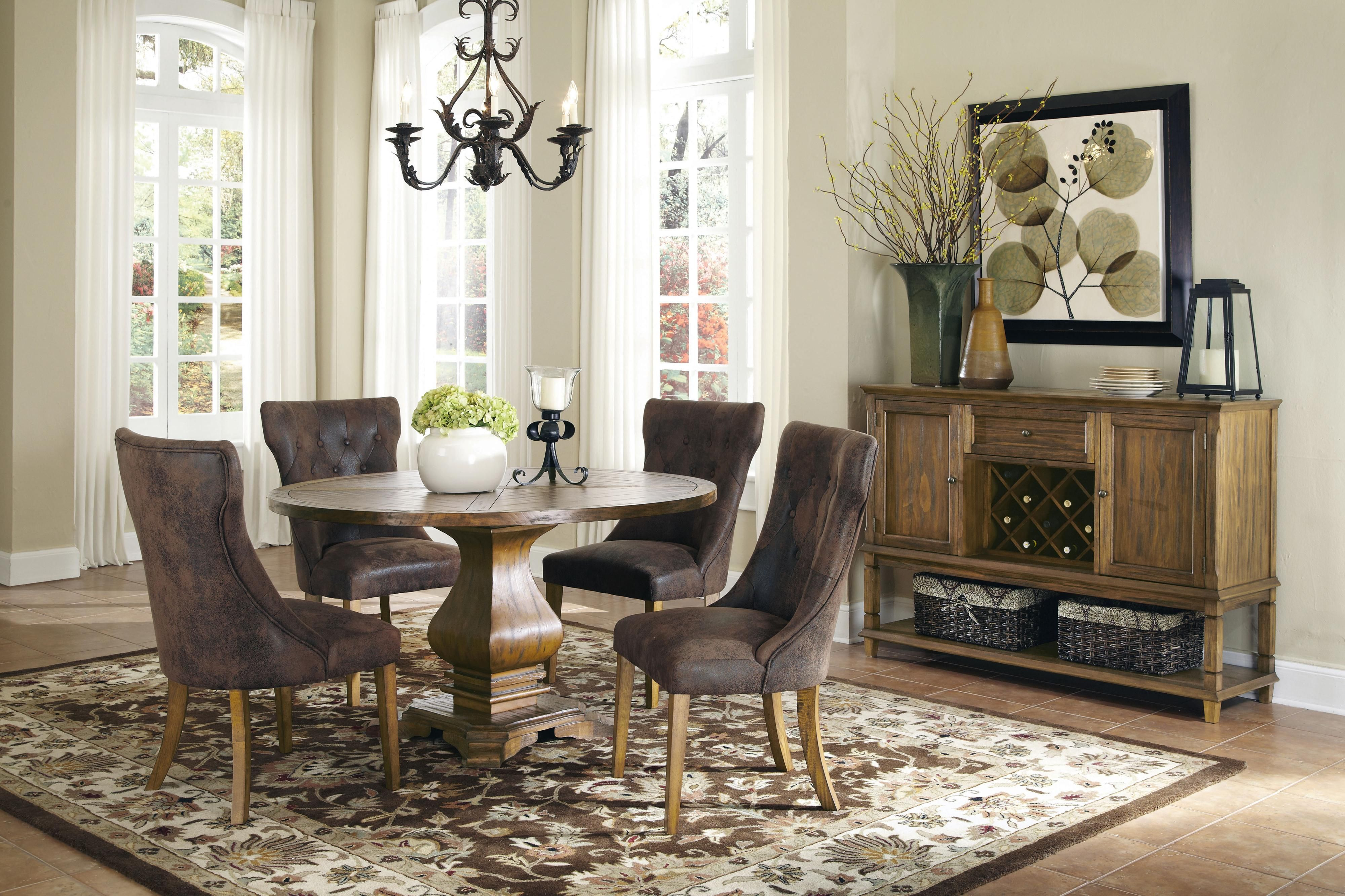 Round dining table and chairs for 4  Parkins collection will help you create a sophisticated and