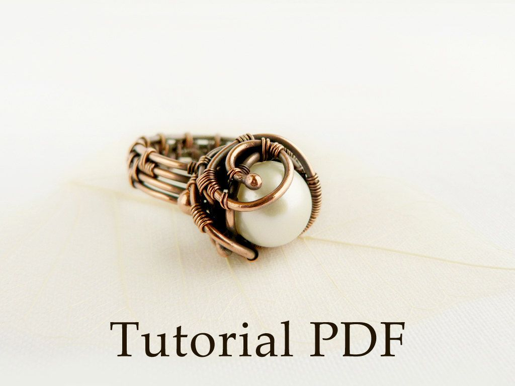 Tutorial wire wrap Pearl ring Wire copper ring by UrsulaJewelry ...