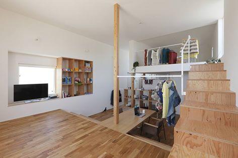 利用錯層設計手法,讓小空間也可以擁有不受阻礙的居家生活。 via alts-design.com
