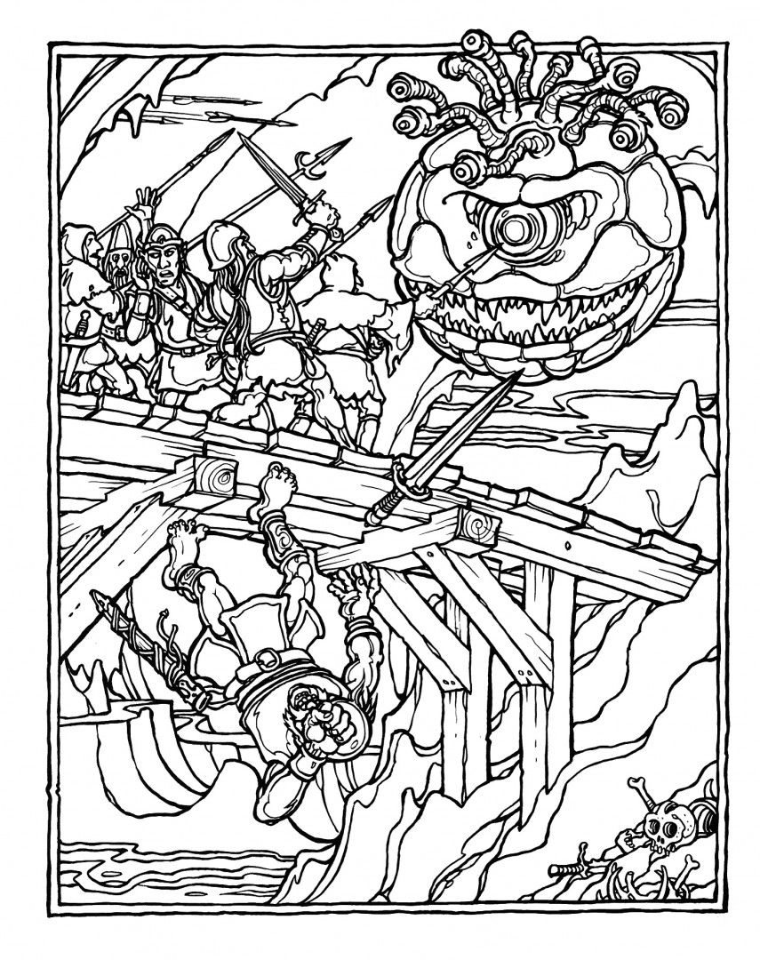 dungeons and dragons coloring pages Pin by Jonathan Pelt on copper etch | Dungeons, Dragons, Coloring  dungeons and dragons coloring pages