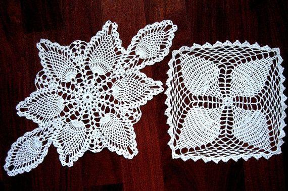 RUNNER table scarf Doily PAIR White Long by RenaissanceProfessor, $11.00