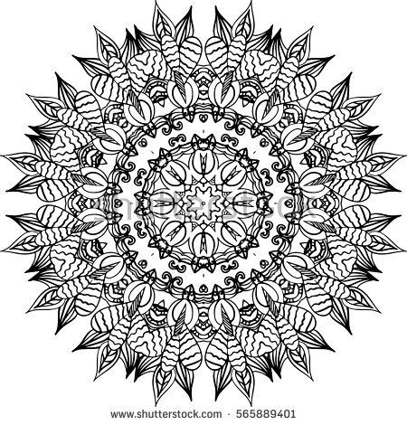 Mandala Illustration For Backgrounds Coloring Books Pattern Designs Logos And Etc